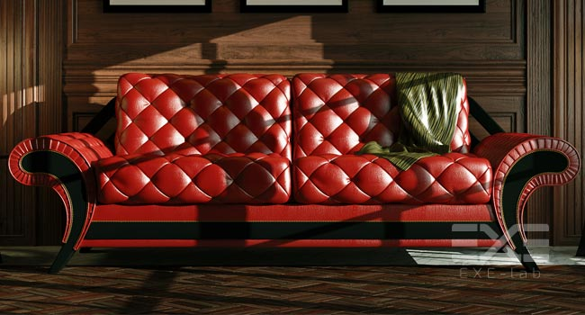 Sofa in 3D interior
